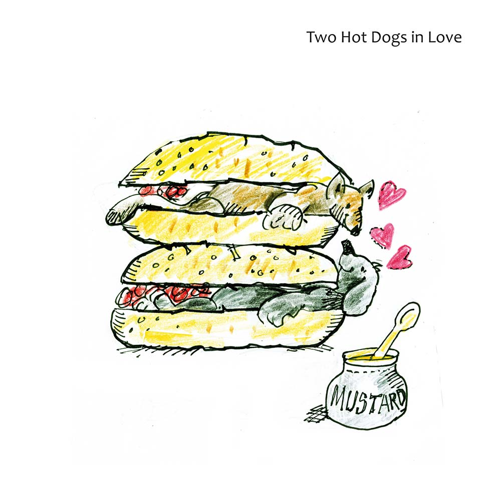 Mikes Karikaturbuch Two Hot Dogs in Love - Mikes frisches Karikaturbuch